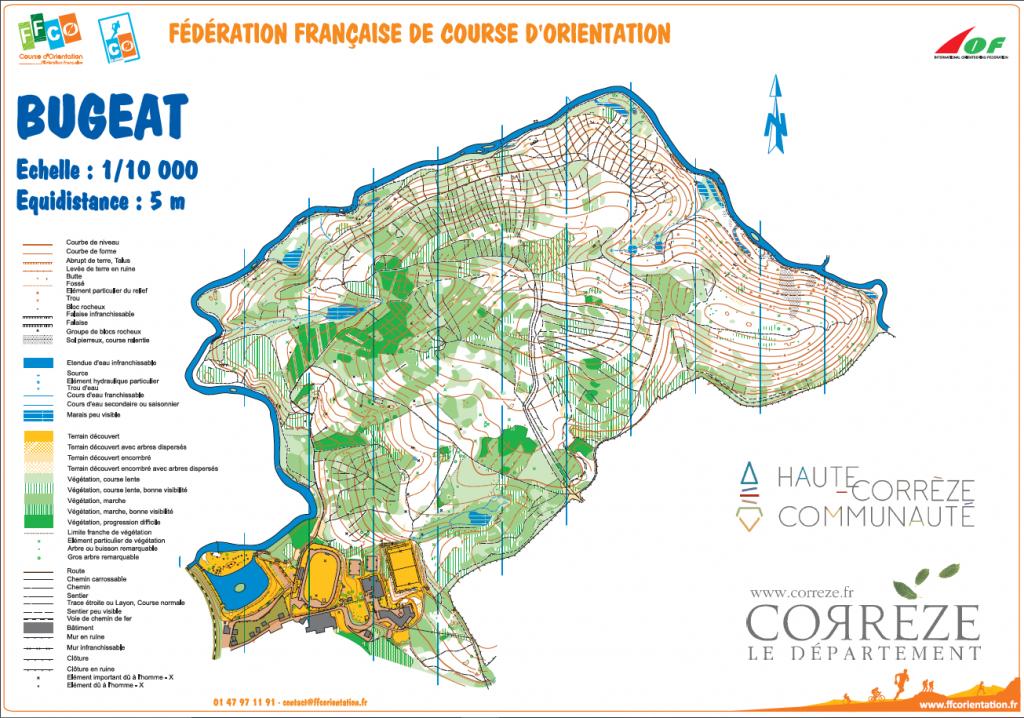 Carte de course d'orientation Centre sportif Espace 1000 Sources