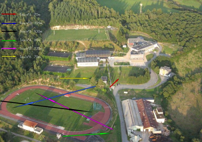 Parcours swing golg centre sportif espace 1000 sources